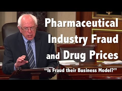 Bernie Sanders' Thoughts on Drug Company Fraud and High Cost of Medicine in America