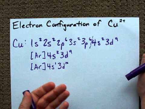 What is the electron Configuration of Cu2+ ?