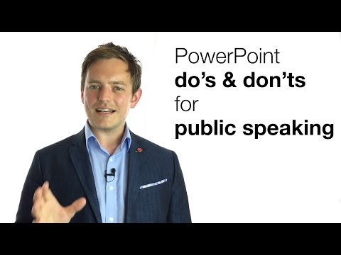 POWERPOINT DO'S & DON'TS FOR PUBLIC SPEAKING