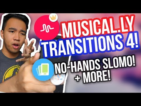 MUSICAL.LY TRANSITIONS TUTORIAL 4! (No Hands SloMo, Zoom + MORE!)