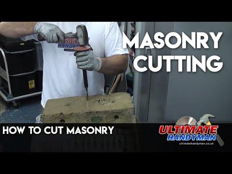 how to cut masonry