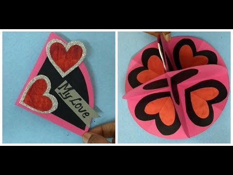 A Beautiful Love card for girlfriend: complete tutorial (Easy making)
