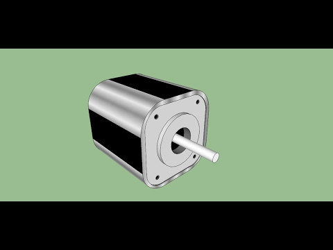 how to make Stepper Motor in sketchup