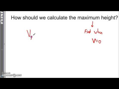 Finding the Maximum Height of a projectile