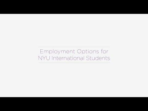 Employment Options for NYU International Students