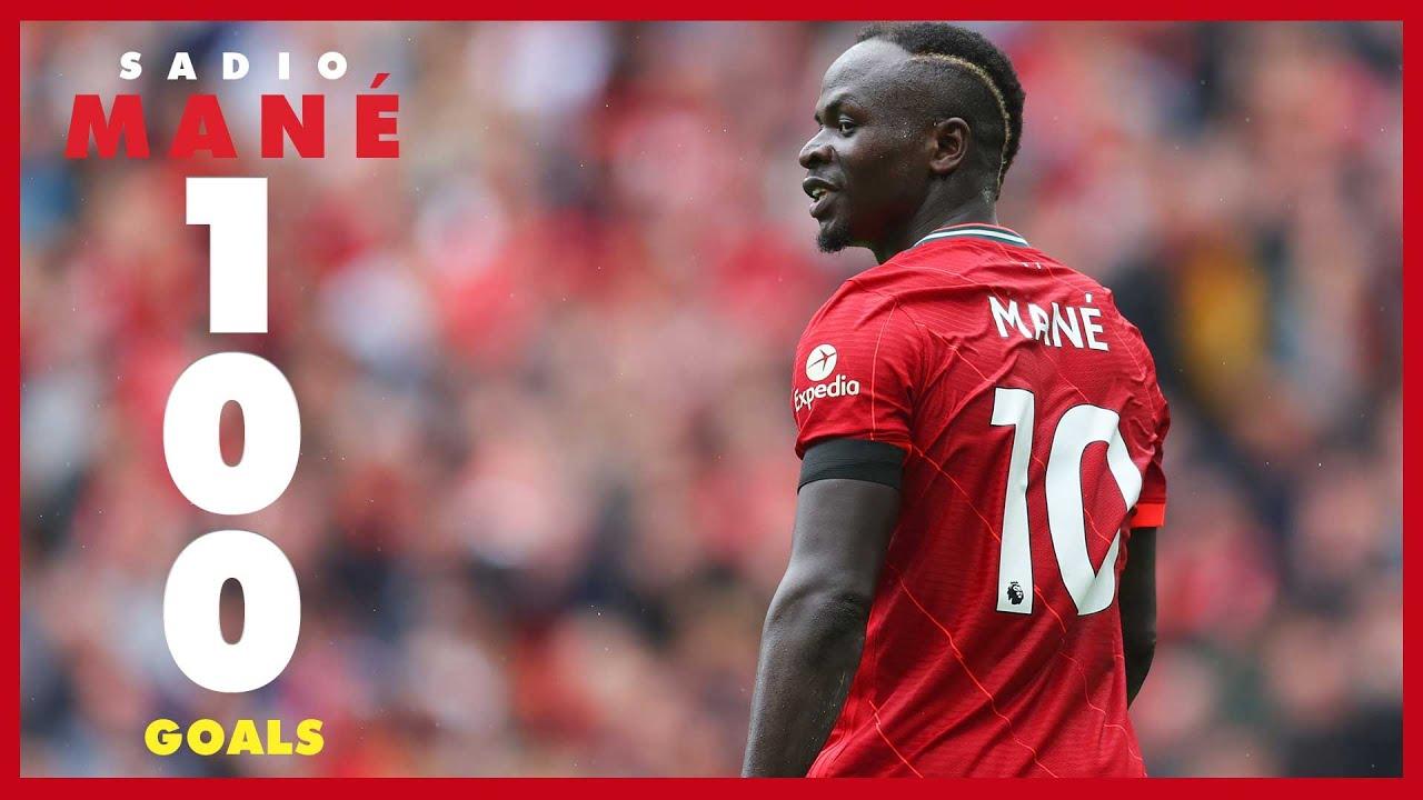 Sadio Mane's 100 Liverpool goals   Arsenal celebration, Everton late winner & Munich stunner