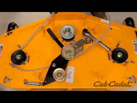 How to Change the Deck Belt on a Cub Cadet Zero Turn  Using Model 17AF3AGV010