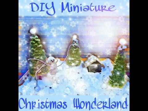 How to make Super Easy DIY Miniature Christmas Wonderland......