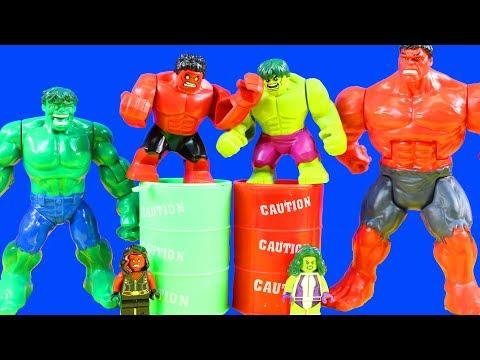 Lego Marvel Superheroes Hulk Smash Battles Red Hulk Imaginext Giant Mutant Joker Eats Yucky Slime