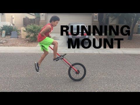 GIRAFFE UNICYCLE RUNNING MOUNT TUTORIAL