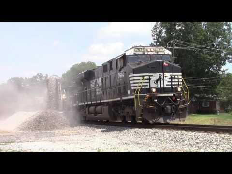 GECX Belt Train Laying Ballast On The Piedmont Division