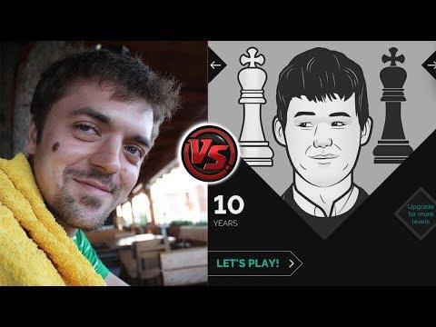 agadmator vs Magnus Carlsen (the App) - Age 10