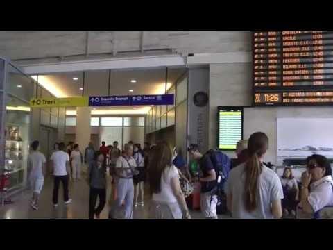 Arriving at Stazione di Santa Lucia in Venice, Italy
