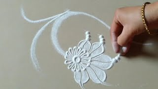 Very easy and beautiful rangoli design by Jyoti Raut Rangoli