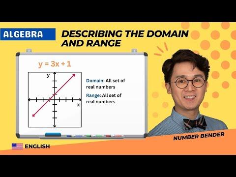 ALGEBRA: Describing the Domain and Range