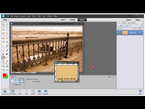 Photoshop Elements Tutorial 06 How To Make a Sepia Photo
