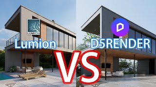 「Render Showdown 4」 Lumion 10 VS D5Render 1.5.1 Exterior Render Quality Compare! Who's better?