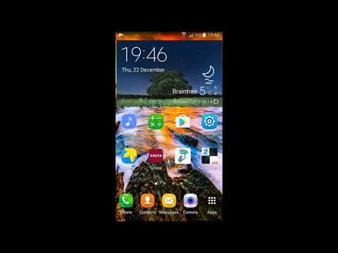 How to change area code on a Galaxy S5