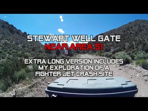 AREA 51: Stewart Well Gate, Re-edited Longer Scenic Video