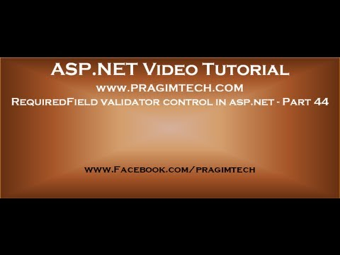 RequiredField validator control in asp.net   Part 44