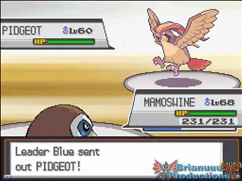 Pokemon Heart Gold  Soul Silver  VS Blue