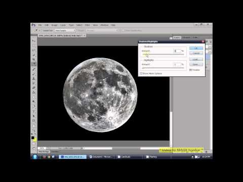 How to process Moon image in Photoshop