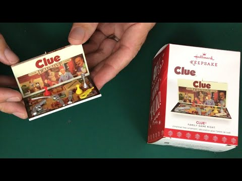 Hallmark Miniature Clue Game Christmas Tree Ornament - Unboxing and Review