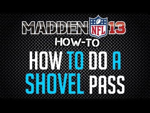 Madden 13 : Offense Tips : How To Do A Shovel Pass
