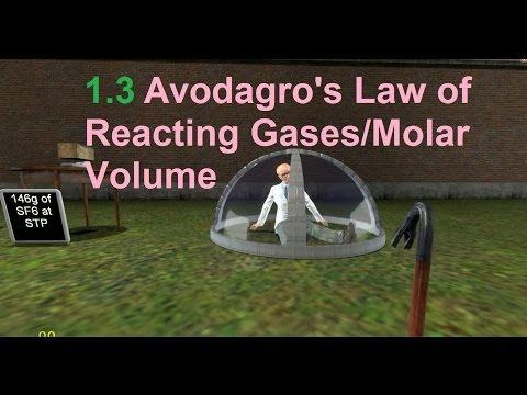 1.3 Avogadro's Law of Reacting Gases/Molar Volume [SL IB Chemistry]