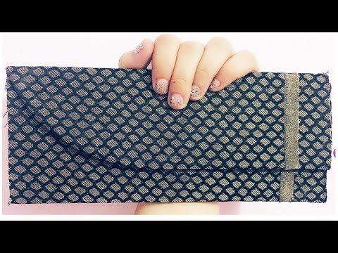 DIY Fabri & Cardboard clutch / Diy clutch purse no sew /Diy clutch purse at home