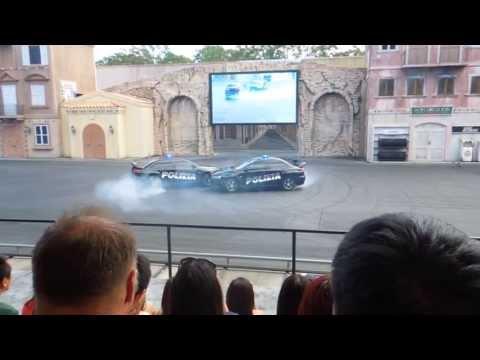 Car stunt show at Movie World Gold Coast