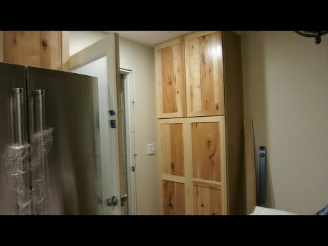 HOW TO INSTALL A KITCHEN PANTRY!!