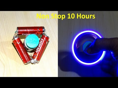 How To Make a battery powered Non Stop Fidget Spinner (  10 hours)