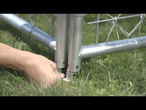 Galvanized Chain-Link Panel Kennel