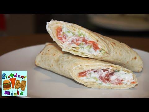 Student Mealz - How to make Salmon Tzatziki Sandwich Wraps