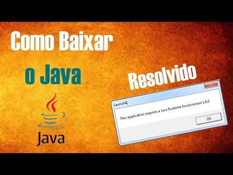 Como Baixar o Java e Resolver o erro this application requires a java runtime environment 1.6.0