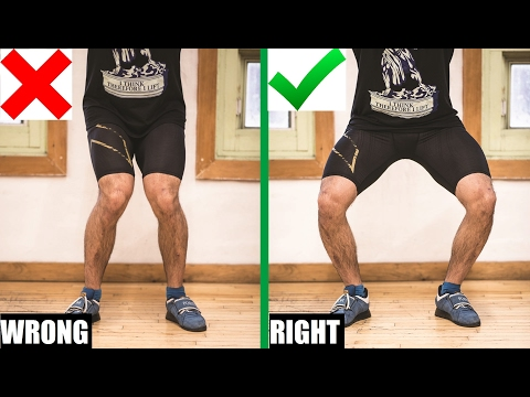 EASIEST WAY TO FIX YOUR KNEES CAVING IN ON SQUATS (Ft. Jake Noel)