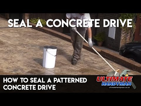How to seal a patterned concrete drive