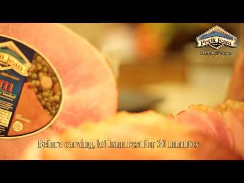 How to carve a half ham