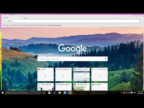 How to change background image of chrome browser.