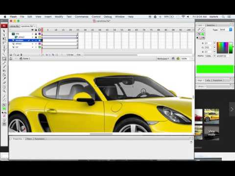 Animate a Car Shine in Flash