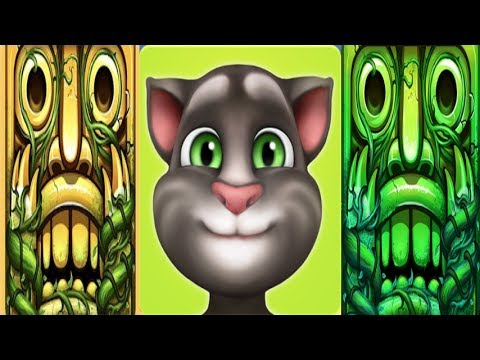 My Talking Tom Level 700*Vs.Temple Run 2, Blazing and Lost Jungle*Gameplay make for children #155