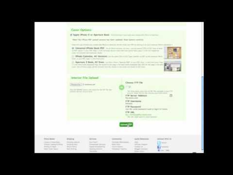 How to upload an Iphoto book