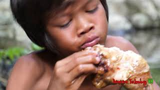 Primitive Technology - Eating Delicious - Cooking Chicken In Forest