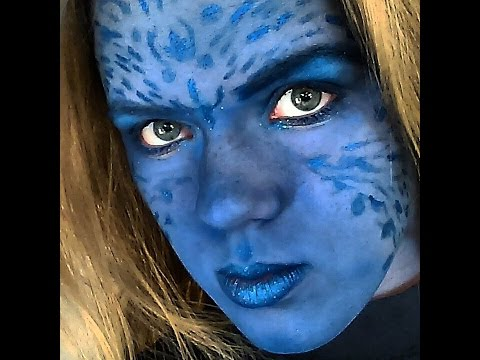 Costume Makeup: Mystique Inspired Makeup Tutorial