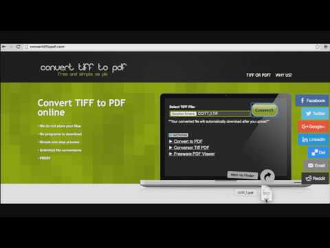 How to convert tiff files to pdf
