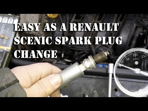 2004 scenic spark plug change and battery clip replacement