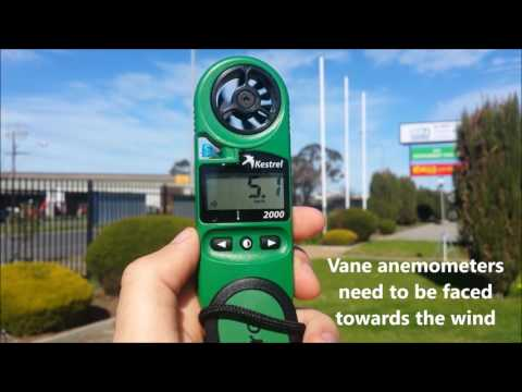 How do you measure wind speed?