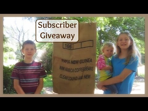 Subsciber Giveaway Coffee Sack and Pencil