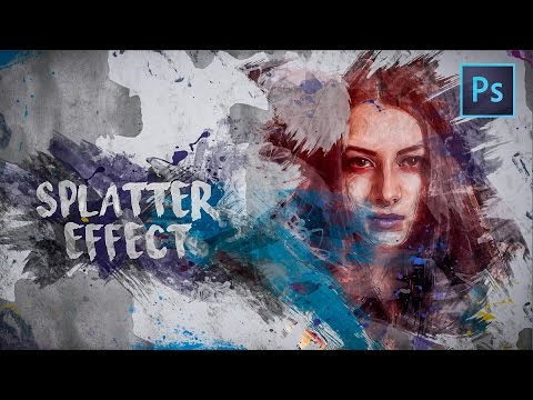 [Photoshop Tutorial] How to Create a Paint Splatter Brush Effect
